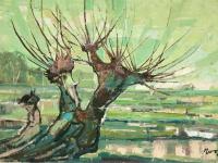 053 Im großen Sumpf, 1963, 70 x 50 cm