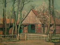072 Bauernhaus, 1951, 39 x 50 cm