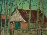 082 Münsterländisches Bauernhaus, 1969, 39,5 x 44 cm