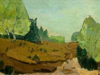 199 Offene Heide, 1966, 49 x 95 cm