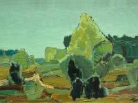 201 Einsame Heide, 1964, 34,5 x 57 cm