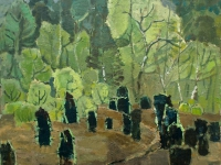 329 Wacholder im Frühling, 1973, 80 x 85,5 cm