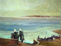 255 Fischerfrauen am Asowschen Meer, 1943, 40,5 x 50,5 cm
