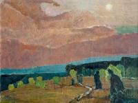 278 Heide im Abendrot, 1972, 86 x 90 cm