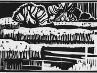 Fischteiche, Linolschnitt