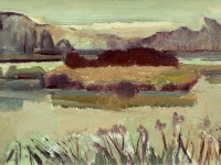 038 Fischteiche, 1964, 61 x 26 cm