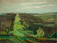 095 Blick über die Hohe Mark, 1966, 68 x 89 cm