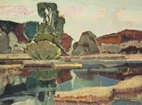 002 Fischteiche 2, 1968, 72 x 39,5 cm
