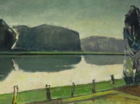 007 Kanal bei Lüdinghausen, 1968, 89 x 37 cm