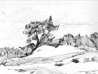 Landschaftsstudie, 30.06.1970