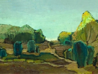307 Strahlender Abend, 1968, 31 x 64,5 cm