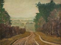 180 Napoleonweg bei Tannenberg, 1928, 49 x 71 cm