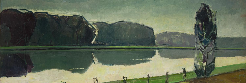 007 Kanal bei Lüdinghausen, 1968, 89 x 37cm